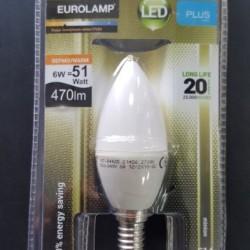 EUROLAMP ΛΑΜΠΑ LED MINION E14  6W